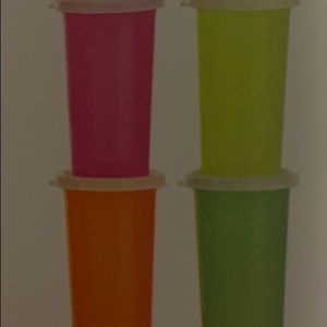 New! Tupperware large bell tumblers with seals